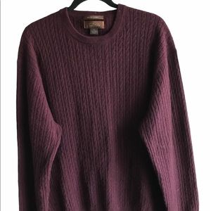 Mens Tasso Elba Cashmere Cable Sweater X-Large